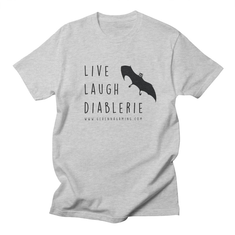 Live, Laugh, Diablerie Men's Regular T-Shirt by The Gehenna Gaming Shop