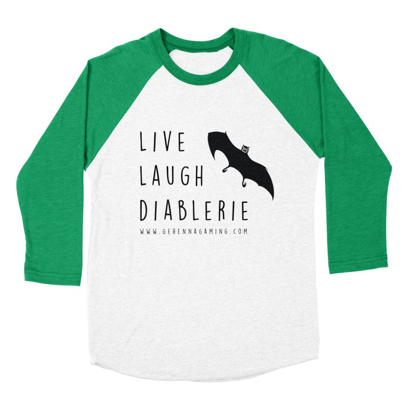 Live, Laugh, Diablerie Women's Baseball Triblend Longsleeve T-Shirt by The Gehenna Gaming Shop