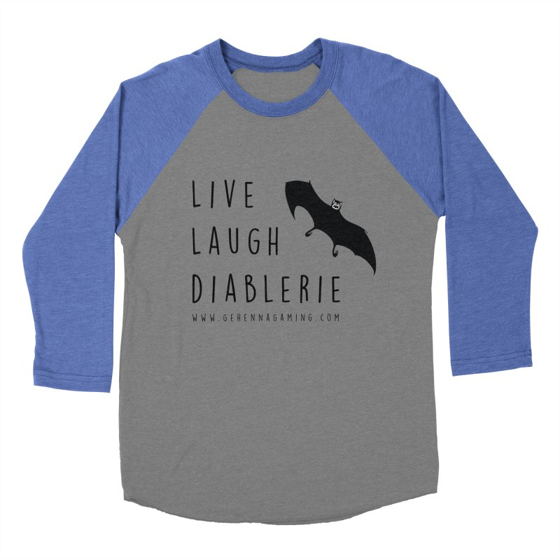 Live, Laugh, Diablerie Men's Baseball Triblend Longsleeve T-Shirt by The Gehenna Gaming Shop