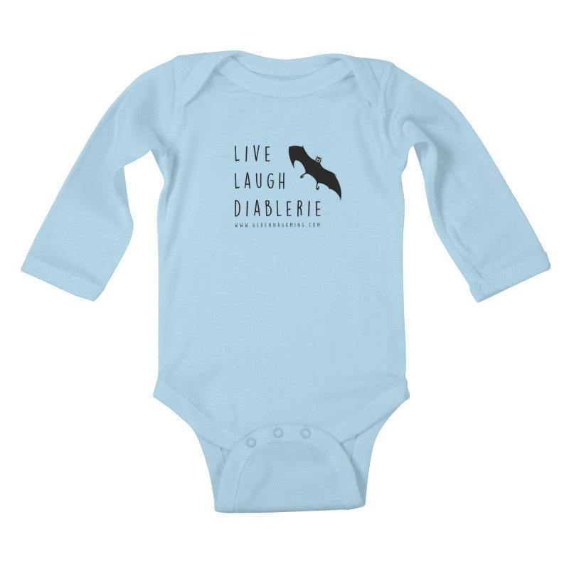 Live, Laugh, Diablerie Kids Baby Longsleeve Bodysuit by GehennaGaming's Artist Shop