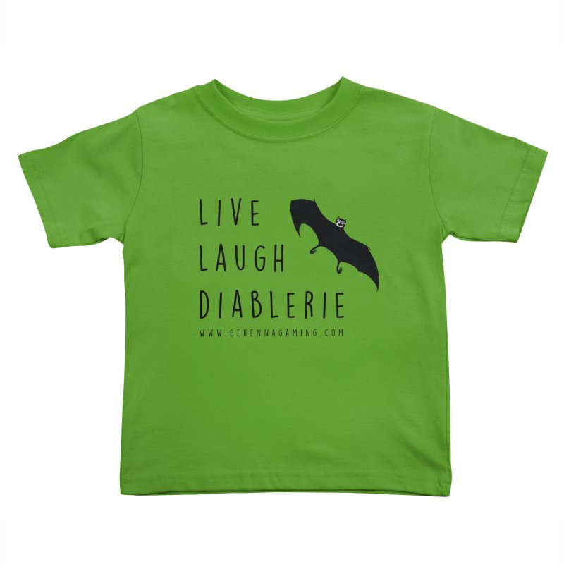 Live, Laugh, Diablerie Kids Toddler T-Shirt by The Gehenna Gaming Shop