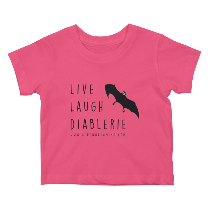 Live, Laugh, Diablerie Kids Baby T-Shirt by The Gehenna Gaming Shop