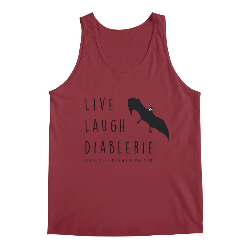 Live, Laugh, Diablerie Men's Regular Tank by The Gehenna Gaming Shop