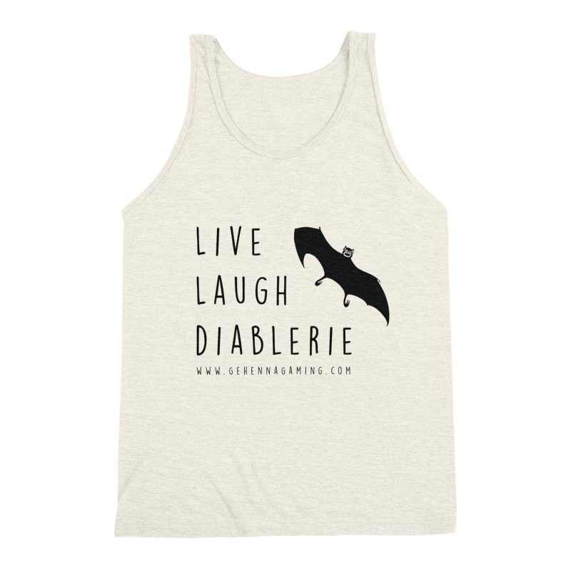 Live, Laugh, Diablerie Men's Triblend Tank by The Gehenna Gaming Shop