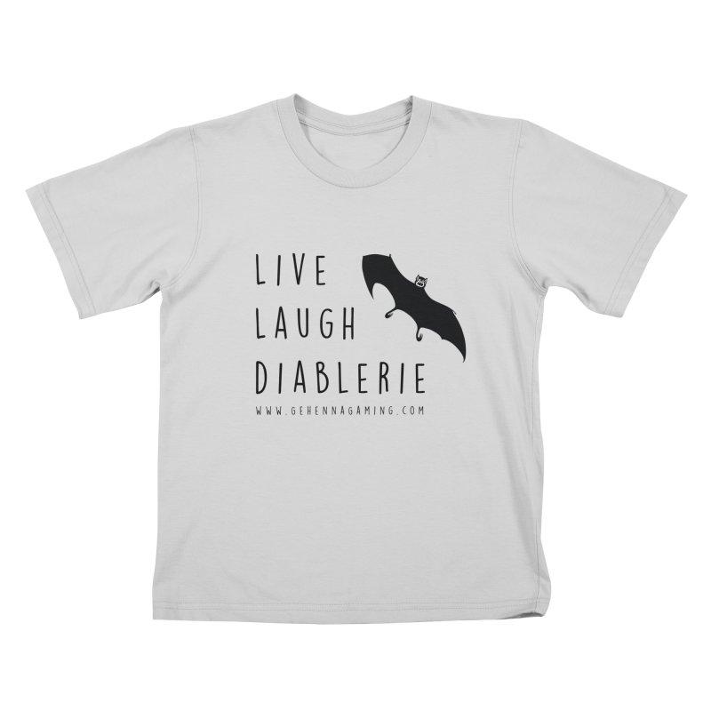 Live, Laugh, Diablerie Kids T-Shirt by GehennaGaming's Artist Shop