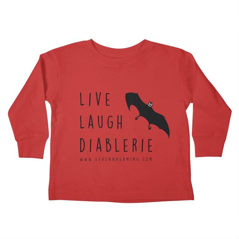Live, Laugh, Diablerie Kids Toddler Longsleeve T-Shirt by GehennaGaming's Artist Shop
