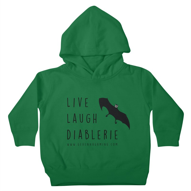 Live, Laugh, Diablerie Kids Toddler Pullover Hoody by GehennaGaming's Artist Shop