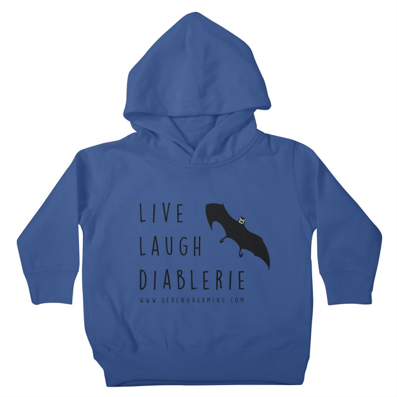 Live, Laugh, Diablerie Kids Toddler Pullover Hoody by The Gehenna Gaming Shop