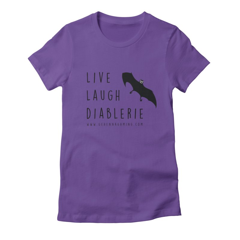 Live, Laugh, Diablerie Women's Fitted T-Shirt by GehennaGaming's Artist Shop
