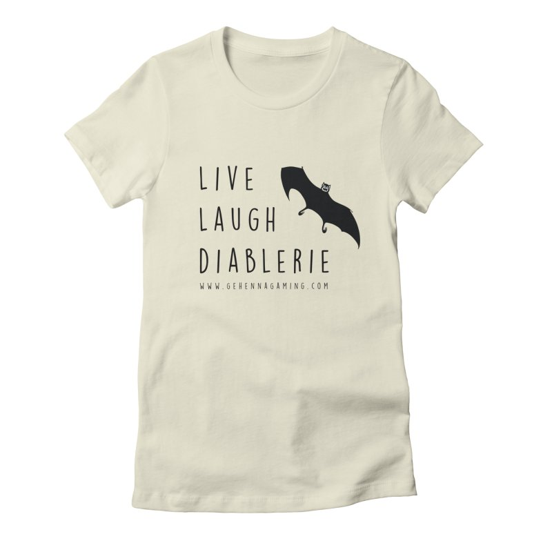 Live, Laugh, Diablerie Women's Fitted T-Shirt by The Gehenna Gaming Shop