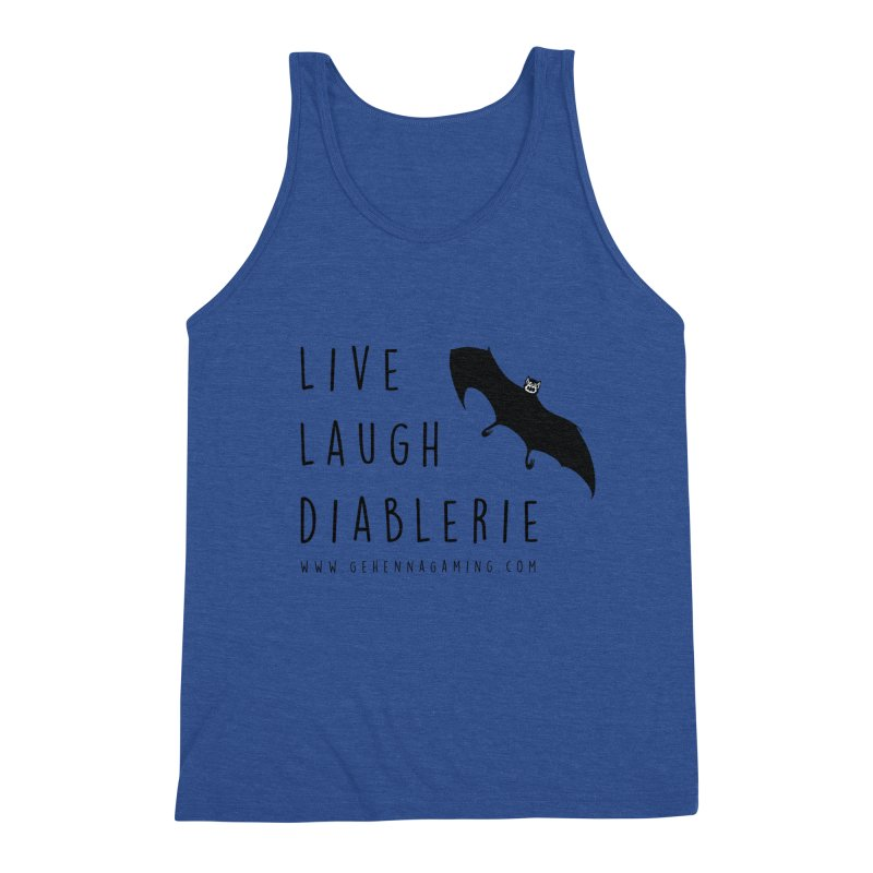 Live, Laugh, Diablerie Men's Triblend Tank by GehennaGaming's Artist Shop