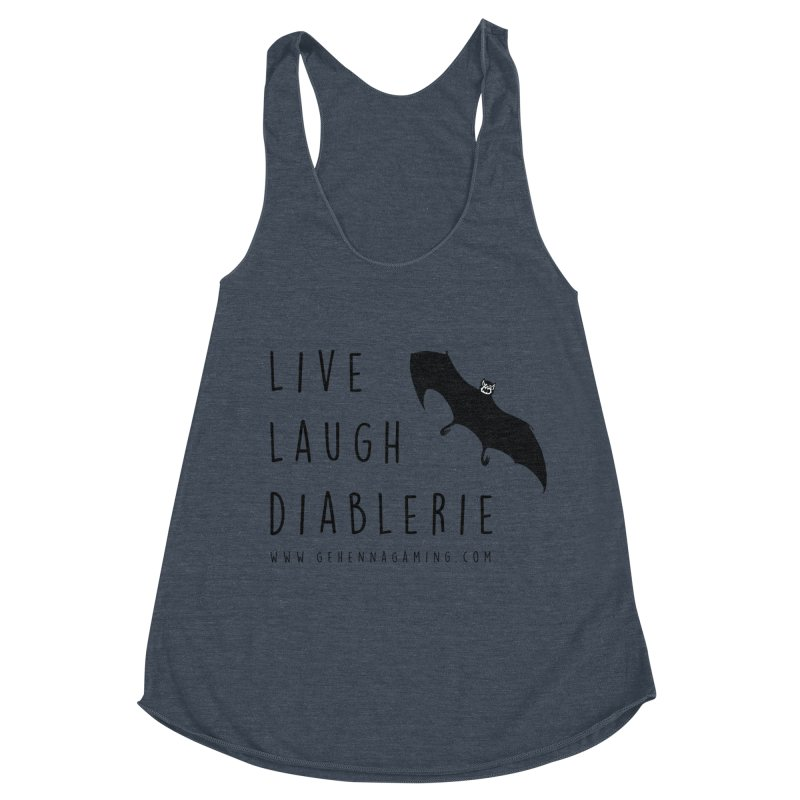 Live, Laugh, Diablerie Women's Racerback Triblend Tank by GehennaGaming's Artist Shop