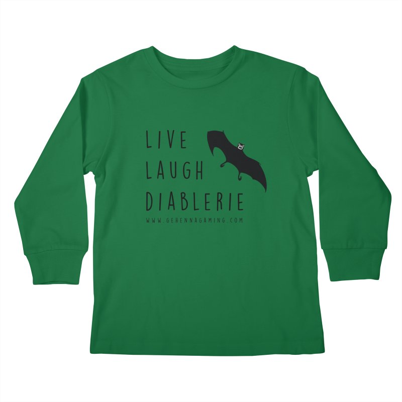 Live, Laugh, Diablerie Kids Longsleeve T-Shirt by The Gehenna Gaming Shop