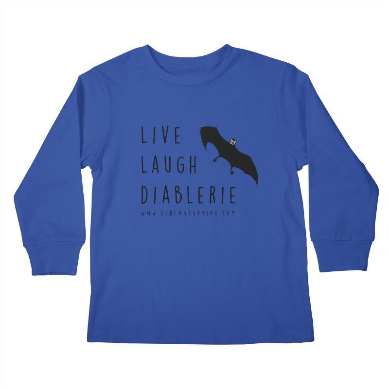 Live, Laugh, Diablerie Kids Longsleeve T-Shirt by GehennaGaming's Artist Shop