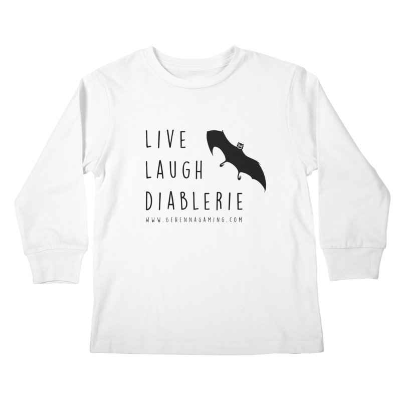 Live, Laugh, Diablerie Kids Longsleeve T-Shirt by GehennaGaming's Artist Shop