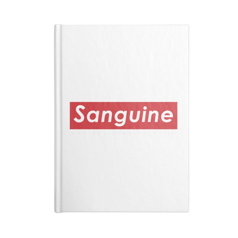 Sanguine: A brand for supreme hipster vamps Accessories Lined Journal Notebook by GehennaGaming's Artist Shop