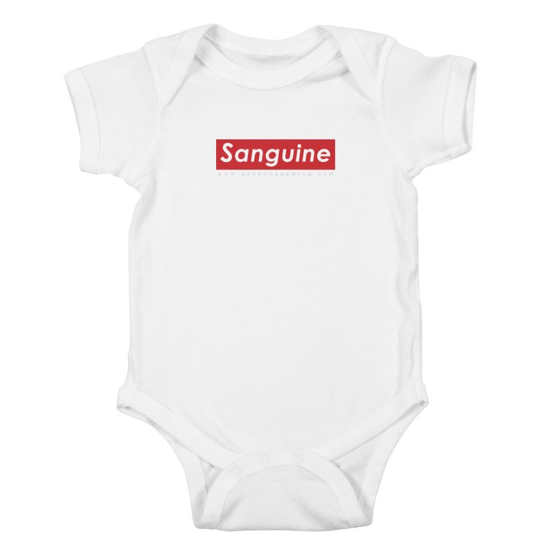 Sanguine: A brand for supreme hipster vamps Kids Baby Bodysuit by GehennaGaming's Artist Shop