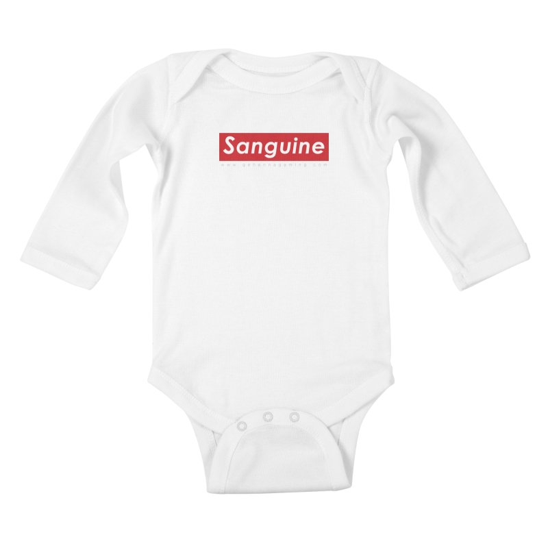 Sanguine: A brand for supreme hipster vamps Kids Baby Longsleeve Bodysuit by GehennaGaming's Artist Shop