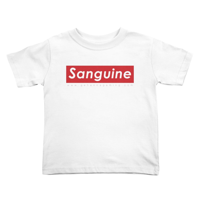 Sanguine: A brand for supreme hipster vamps Kids Toddler T-Shirt by GehennaGaming's Artist Shop