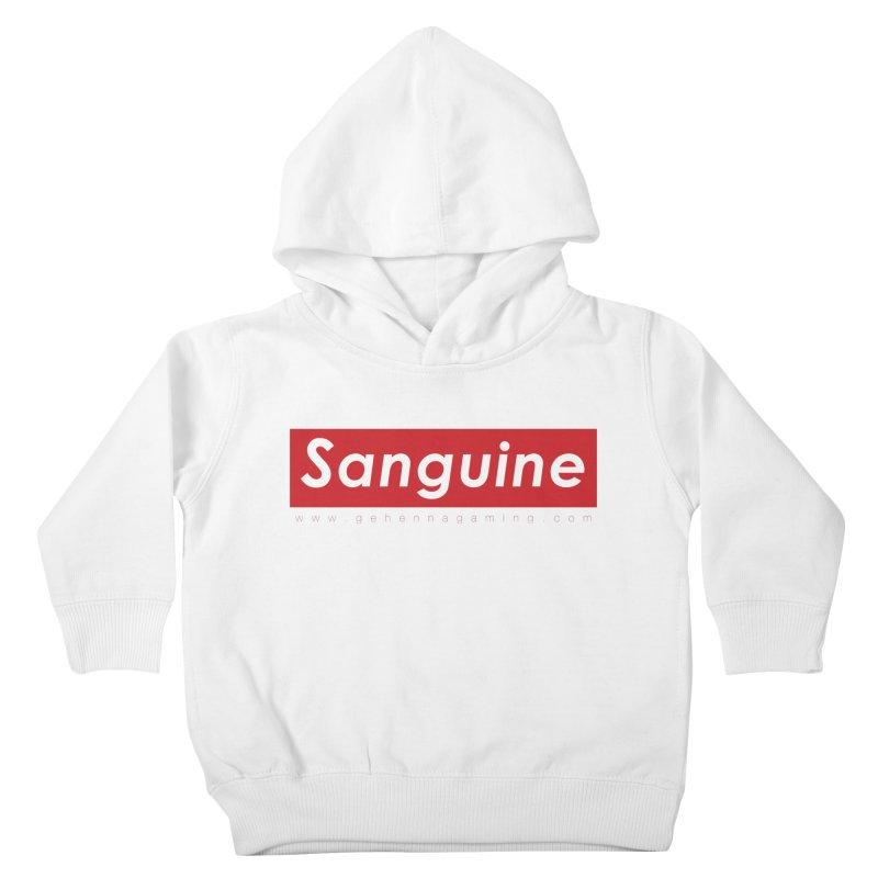 Sanguine: A brand for supreme hipster vamps Kids Toddler Pullover Hoody by The Gehenna Gaming Shop