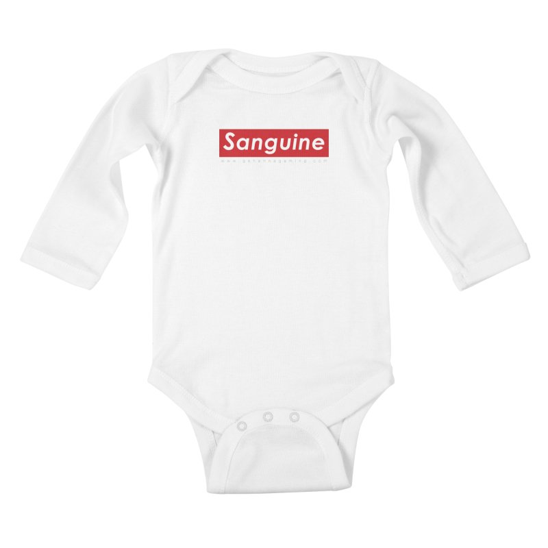 Sanguine: A brand for supreme hipster vamps Kids Baby Longsleeve Bodysuit by The Gehenna Gaming Shop