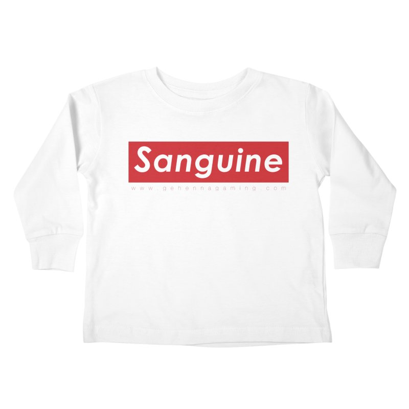 Sanguine: A brand for supreme hipster vamps Kids Toddler Longsleeve T-Shirt by The Gehenna Gaming Shop