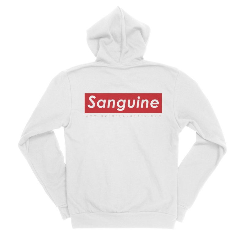 Sanguine: A brand for supreme hipster vamps Men's Zip-Up Hoody by The Gehenna Gaming Shop