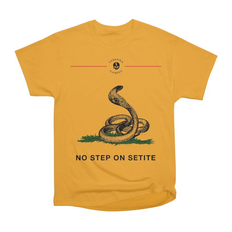 No Step On Setite Men's Heavyweight T-Shirt by GehennaGaming's Artist Shop