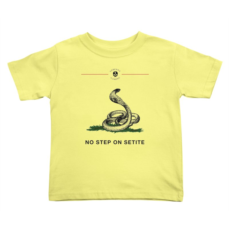 No Step On Setite Kids Toddler T-Shirt by GehennaGaming's Artist Shop