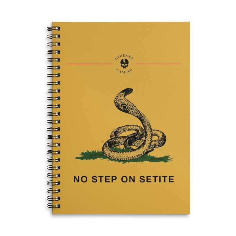 No Step On Setite Accessories Lined Spiral Notebook by The Gehenna Gaming Shop