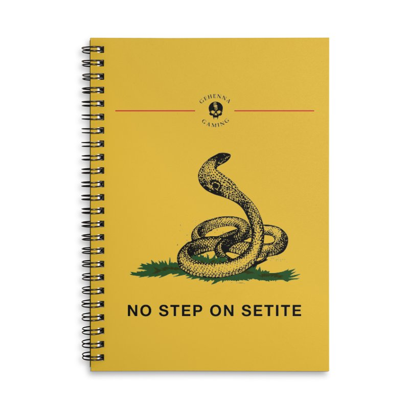 No Step On Setite Accessories Lined Spiral Notebook by GehennaGaming's Artist Shop