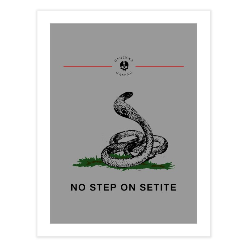 No Step On Setite Home Fine Art Print by GehennaGaming's Artist Shop