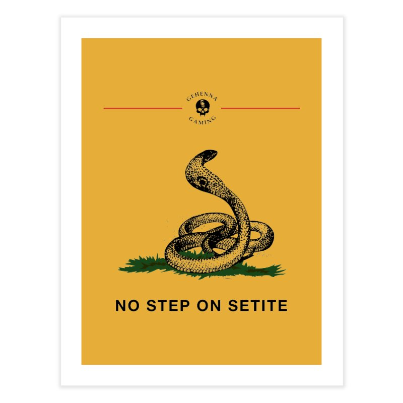No Step On Setite Home Fine Art Print by The Gehenna Gaming Shop