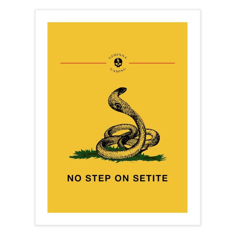 No Step On Setite Home Fine Art Print by GehennaGaming's Artist Shop