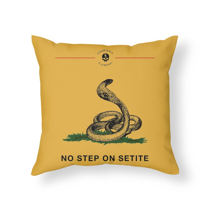 No Step On Setite Home Throw Pillow by The Gehenna Gaming Shop