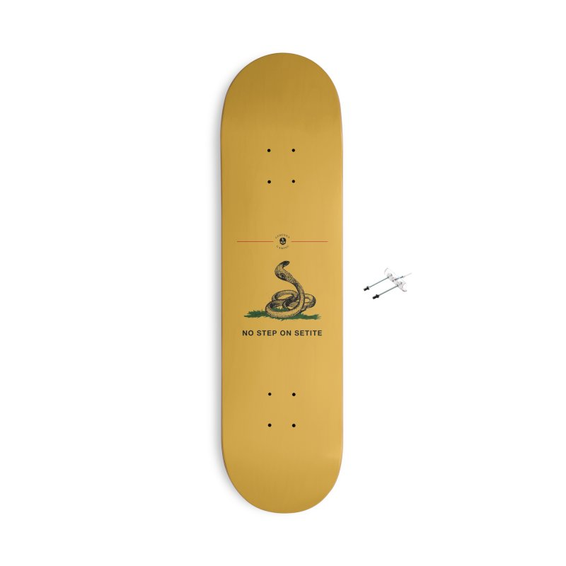 No Step On Setite Accessories With Hanging Hardware Skateboard by The Gehenna Gaming Shop