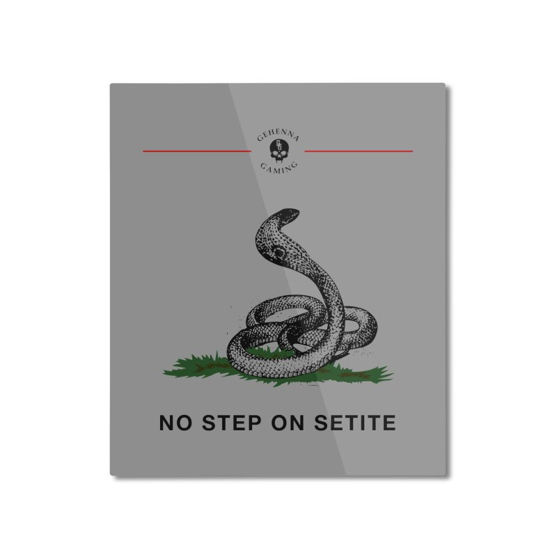 No Step On Setite Home Mounted Aluminum Print by GehennaGaming's Artist Shop