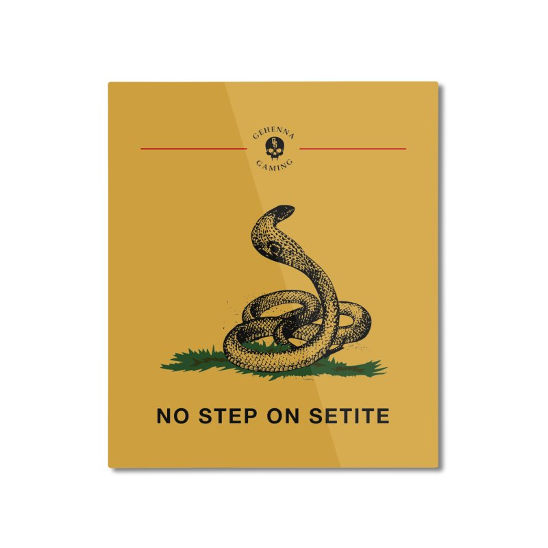 No Step On Setite Home Mounted Aluminum Print by The Gehenna Gaming Shop
