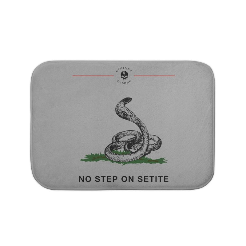 No Step On Setite Home Bath Mat by GehennaGaming's Artist Shop