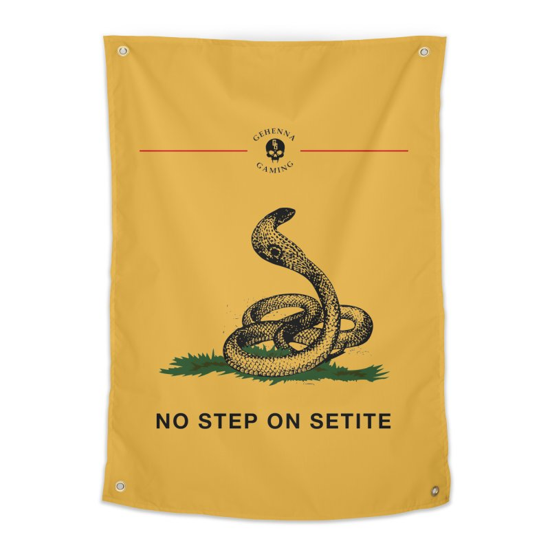 No Step On Setite Home Tapestry by The Gehenna Gaming Shop