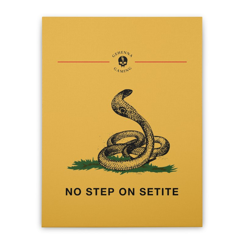 No Step On Setite Home Stretched Canvas by The Gehenna Gaming Shop