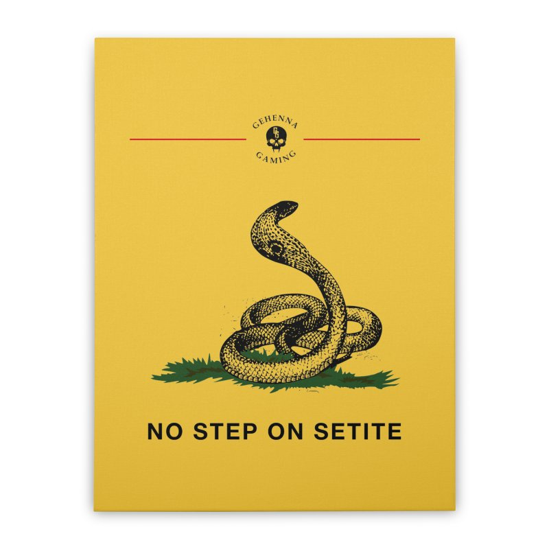 No Step On Setite Home Stretched Canvas by GehennaGaming's Artist Shop