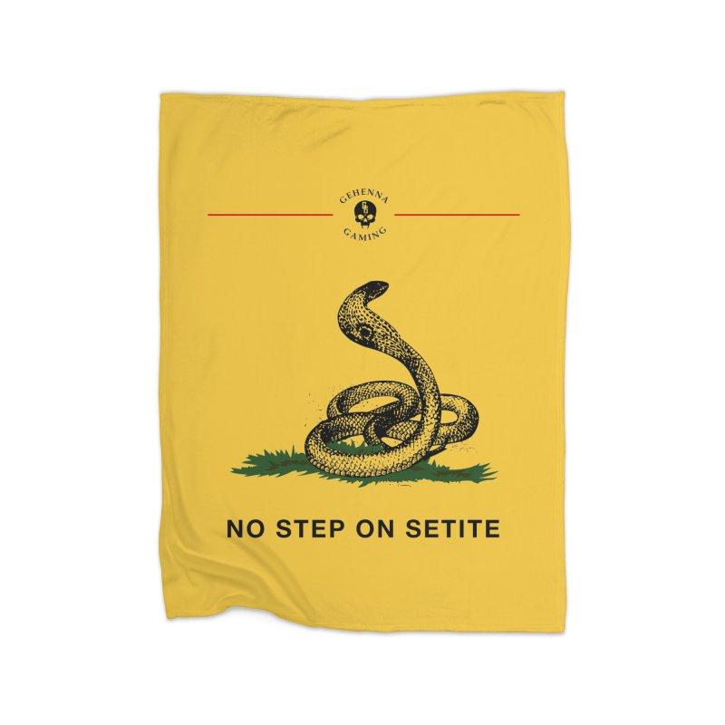 No Step On Setite Home Fleece Blanket Blanket by GehennaGaming's Artist Shop
