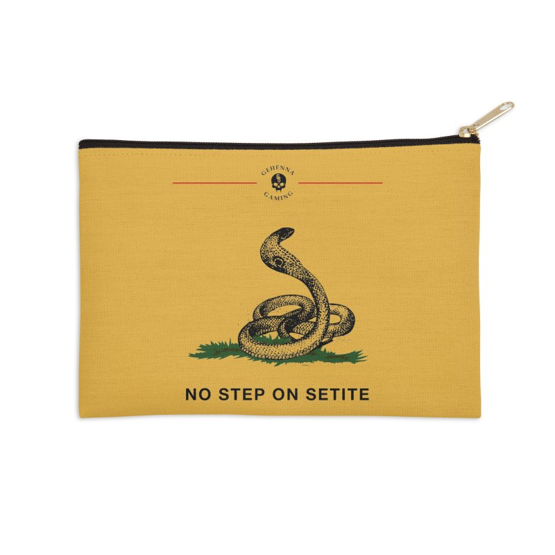 No Step On Setite Accessories Zip Pouch by The Gehenna Gaming Shop