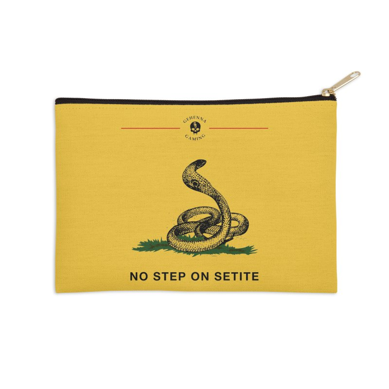 No Step On Setite Accessories Zip Pouch by GehennaGaming's Artist Shop