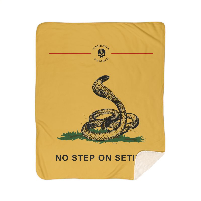 No Step On Setite Home Sherpa Blanket Blanket by The Gehenna Gaming Shop