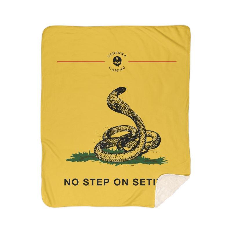 No Step On Setite Home Sherpa Blanket Blanket by GehennaGaming's Artist Shop