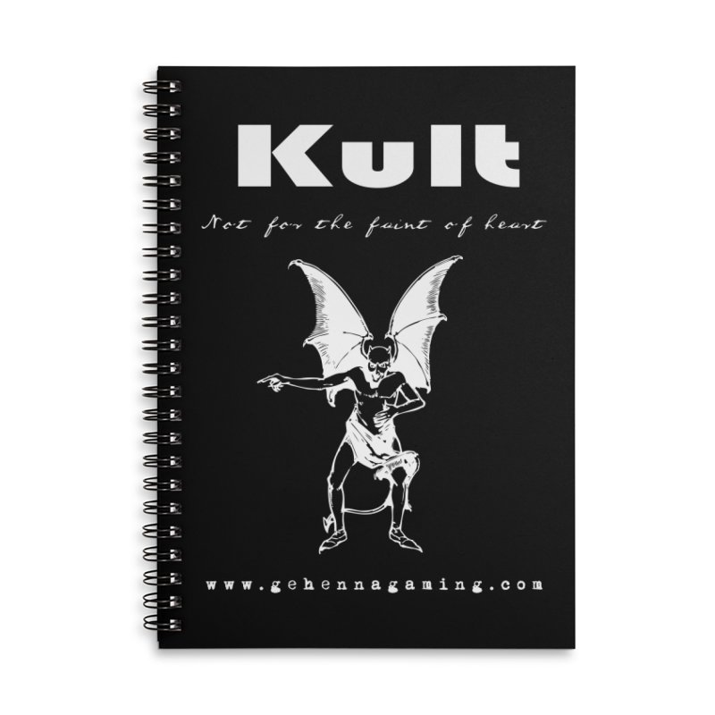 Kult: Not for the weak of heart (Goth Edition) Accessories Lined Spiral Notebook by The Gehenna Gaming Shop