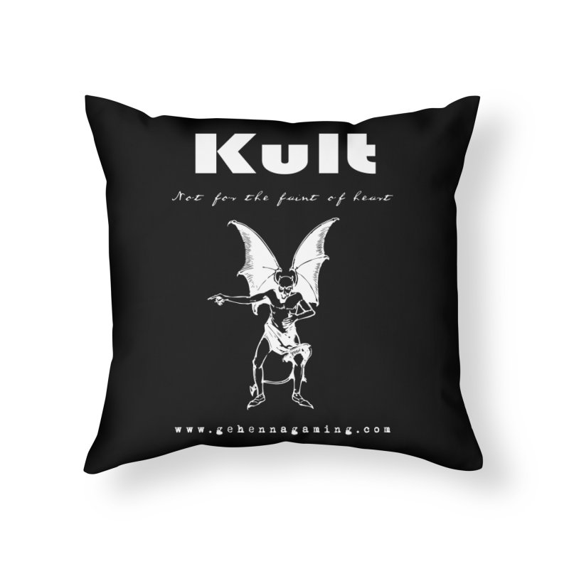 Kult: Not for the weak of heart (Goth Edition) Home Throw Pillow by The Gehenna Gaming Shop