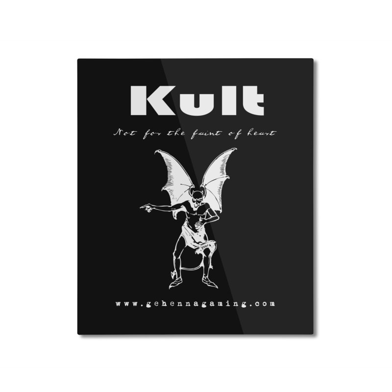 Kult: Not for the weak of heart (Goth Edition) Home Mounted Aluminum Print by The Gehenna Gaming Shop